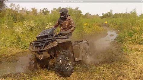 Can Am Outlander 1000 Smashing An Iowa Mud Hole