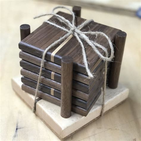 wooden coasters  holder wooden coaster holders