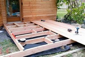 construction d39une terrasse en bois aumes une realisation With construction d une terrasse en bois