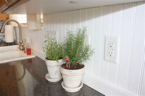 Wainscot Backsplash by Country Home New Beadboard Backsplash In Kitchen