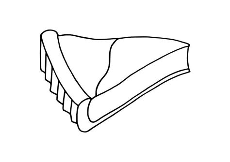 coloring page pie slice img