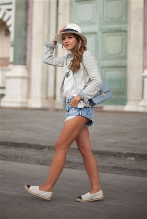 boyfriend striped dress picture of comfy look with espadrilles denim shorts and hat