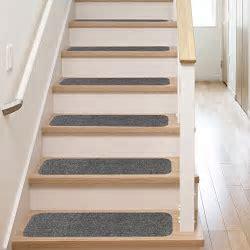 13 Stair Treads   Non Slip Carpet Pads   Easy Tape