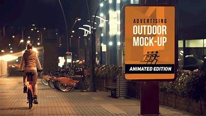 Outdoor Mock Animated Mockup Ad Advertising Billboard