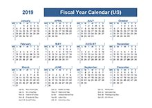 printable  fiscal year calendar template calendarlabs