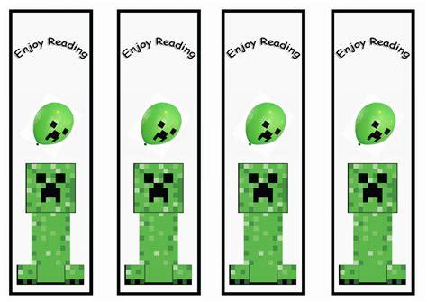 Minecraft Bookmarks To Print  Printable 360 Degree
