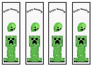 minecraft birthday printable With minecraft bookmark template
