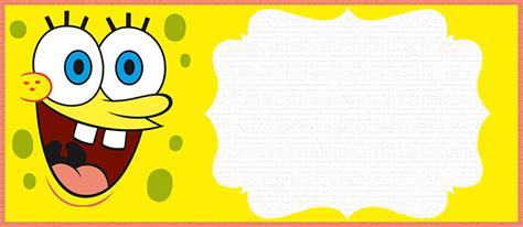 spongebob invitation templates invitations