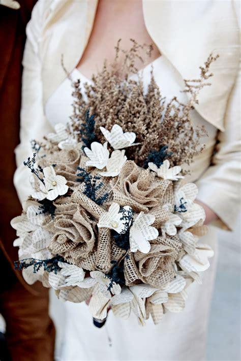 burlap lace bouquets flowers ideas  weddings lace