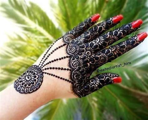 easy simple jewellery ornamental henna mehndi designs