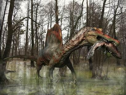 Spinosaurus Fishing Rex Dinosaur Scroll Which Artstation