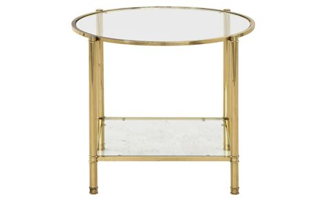 antique brass side table vintage brass side table jayson home