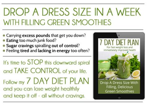 green smoothie 7 day detox diet plan lose weight and feel