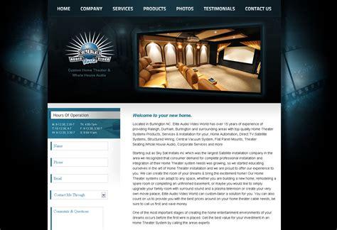 home theater web design blueprint
