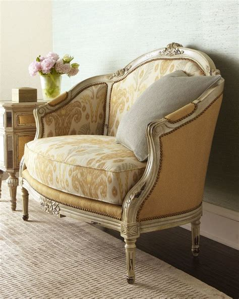 traditional settee massoud quot milly quot settee exclusively ours high back settee