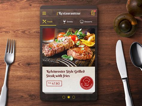 application cuisine android restaurant menu ordering app ui design by jonath