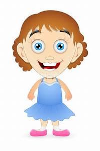 Teen Girl - Cartoon Character Stock Image