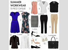 How to create a 15piece summer workwear capsule wardrobe