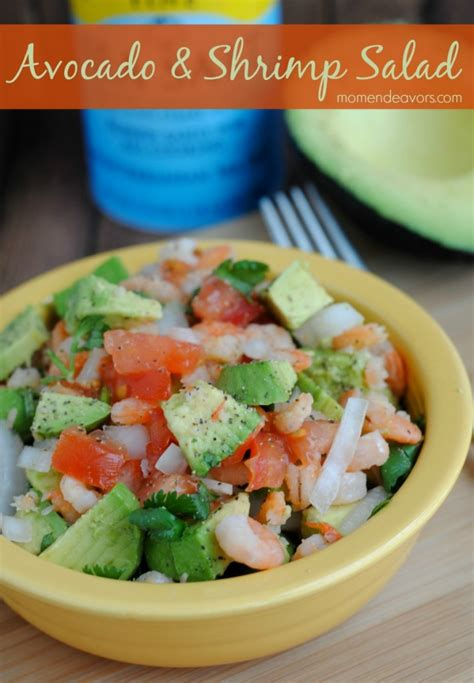 healthy recipe avocado shrimp salad