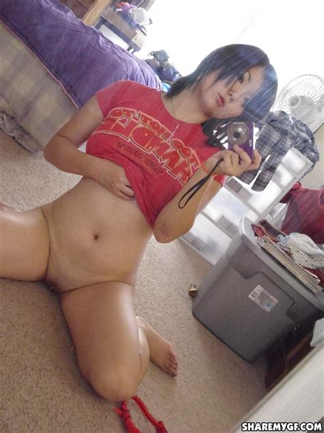 Hot Asian College Girl Takes Selfies Of Her Naked Body