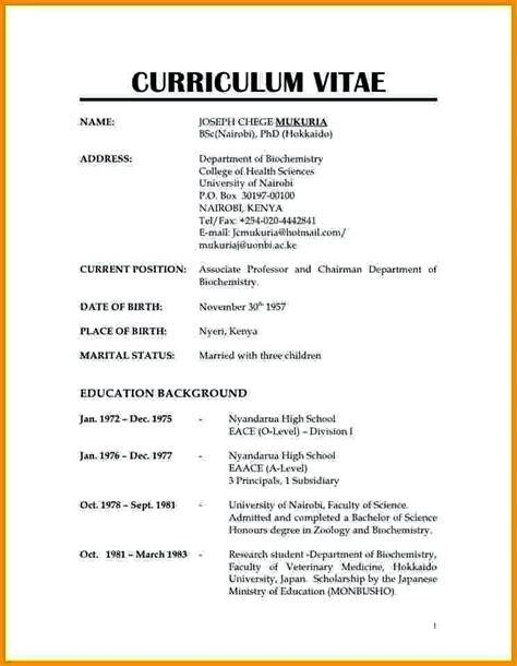 Resume And Cv Format by Image Result For Normal Resume Format D Sle Resume