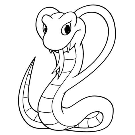 cartoon cobra step  step drawing lesson