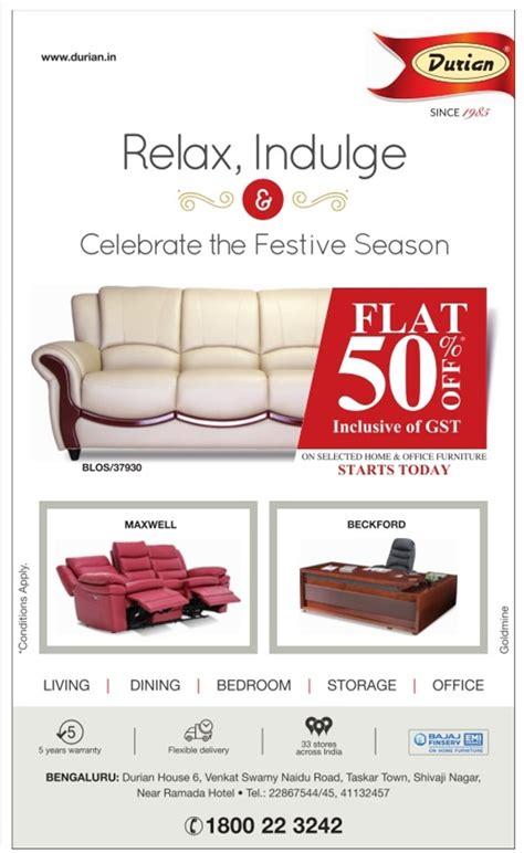 Furniture Sale by Durian Furniture Sale Bangalore Saleraja