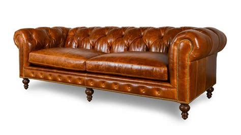 Leather Chesterfield Loveseat by All Leather Sofas Cococo Home