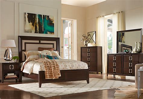 sofia vergara santa clarita dark cherry 5 pc queen bedroom