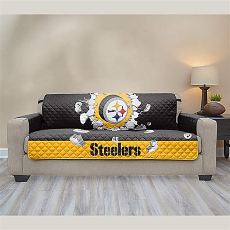 nfl pittsburgh steelers sofa cover bed bath