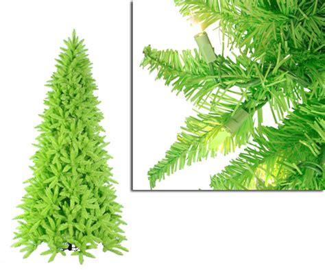 9 039 pre lit slim lime green ashley spruce christmas tree ebay