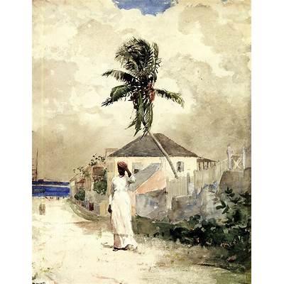 The Athenaeum - Along the Road Bahamas (Winslow Homer )