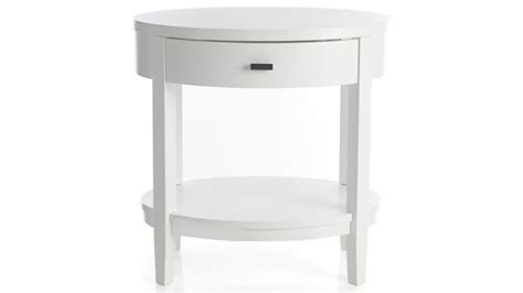 Arch White Oval Nightstand  Crate And Barrel