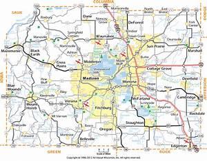 Map Madison Wisconsin Area afputra com