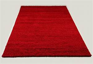 tapis shaggy rouge de salon vasco 4 With tapis rouge salon