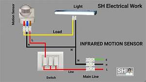 Wiring Diagram  Basic For A Flood Light With A Motion Sensor