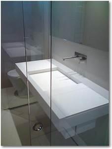 plan vasque corian avec cuve carree crea diffusion With plan vasque corian salle bain