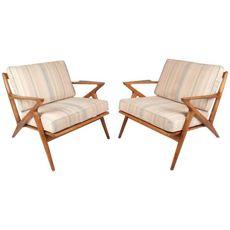 selig mid century lounge chair mid century modern poul for selig quot z quot lounge chairs