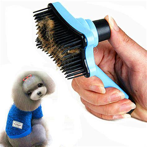 Sisir Serit Hewan Peliharaan sisir bulu hewan peliharaan pet fur grooming brush blue
