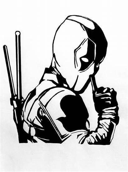 Sketch Deadpool Mutant Marvel