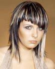 frisuren halblang zweifarbig moderne frisuren