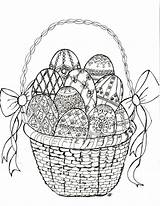 Easter Coloring Egg Faberge Easy Crafts sketch template