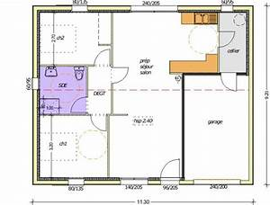 plan maison 70m2 3 chambres With plan maison a etage 3 chambres