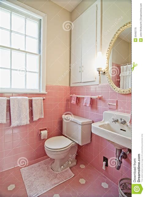 pink bathroom royalty  stock photo image