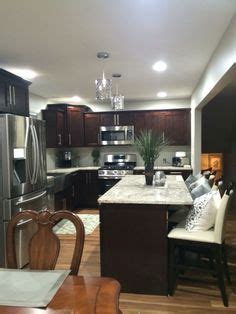 pictures of backsplashes in kitchen timberlake cabinetry brews chic espresso finish in six 7441