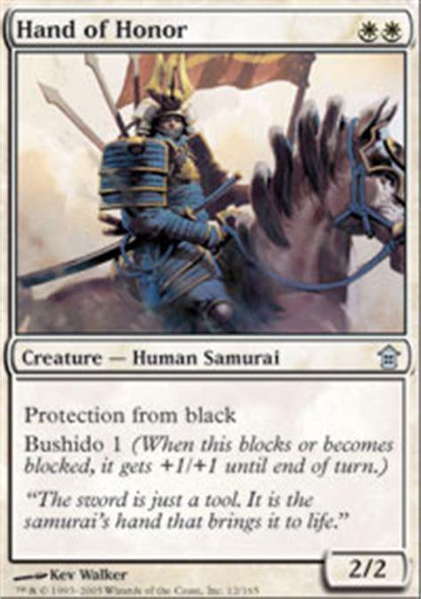 Samurai Deck Mtg by Of Honor Saviors Of Kamigawa Magic The Gathering
