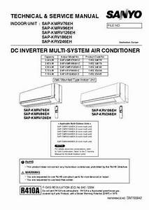 Sanyo Sap-krv186eh Air Conditioner Download Manual For Free Now