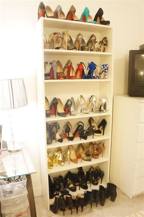 Shoe Storage Bookcase by Shoe Bookcase For Shoe Storage Closet Ikea Billy