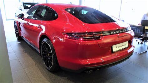 All New Red Porsche Panamera Turbo 2017, Katowice