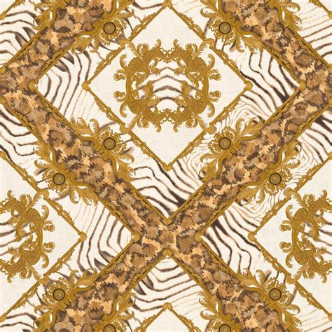 zebra ornament brown metallic wallpaper versace home decor